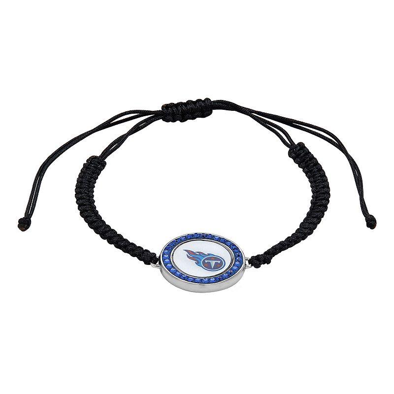 Tennessee Titans Team Logo Crystal Slipknot Bracelet - Made with Swarovski Crystals