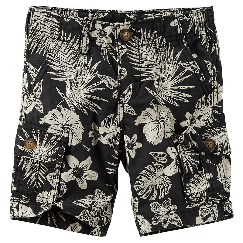 Boys 4-8 Carter's Tropical Floral Cargo Shorts