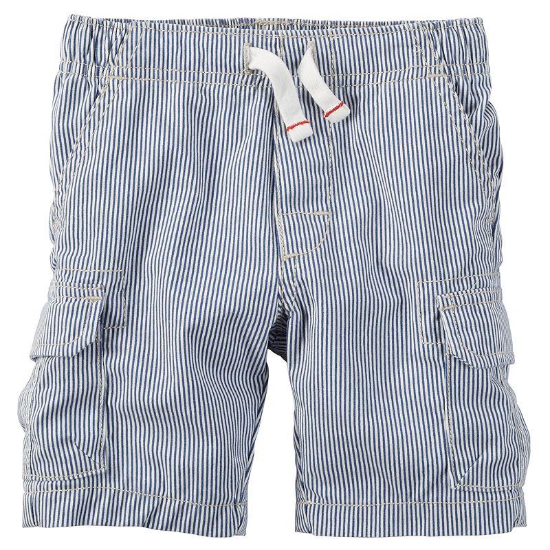 Boys 4-8 Carter's Pinstripe Cargo Shorts