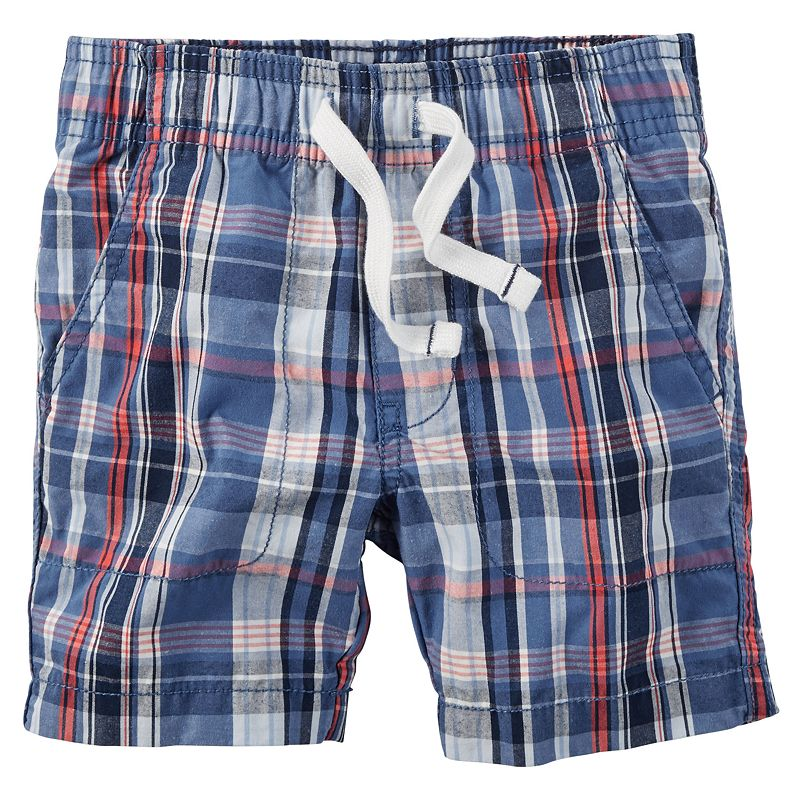 Boys 4-8 Carter's Pull-On Plaid Shorts