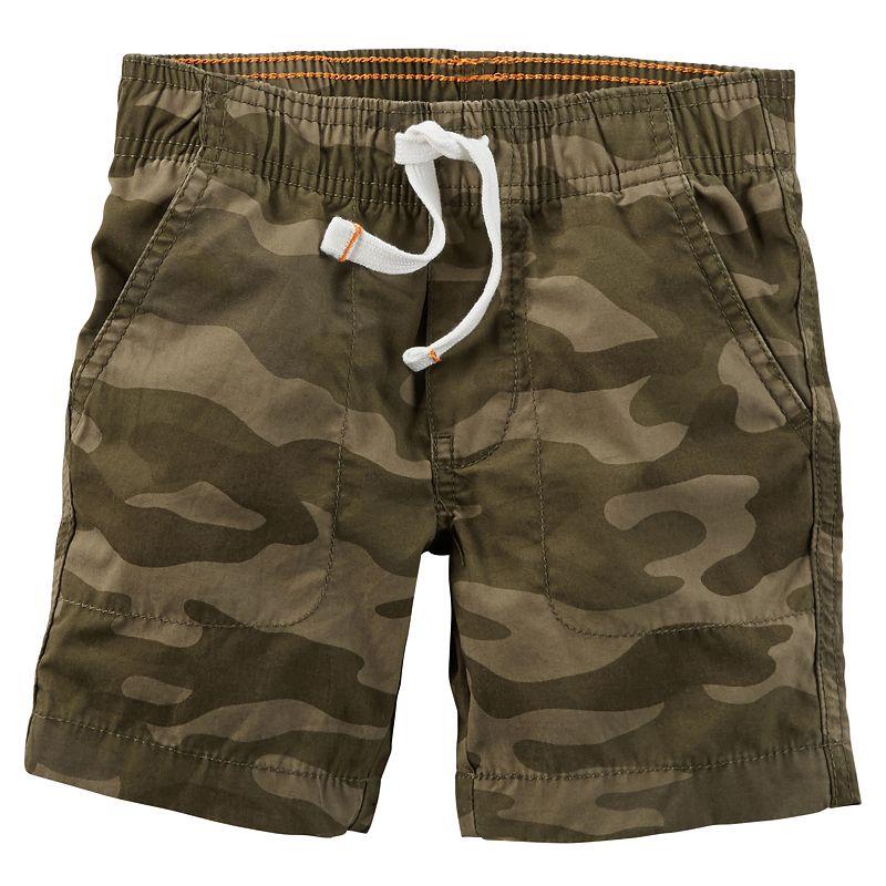 Boys 4-8 Carter's Pull-On Camo Shorts