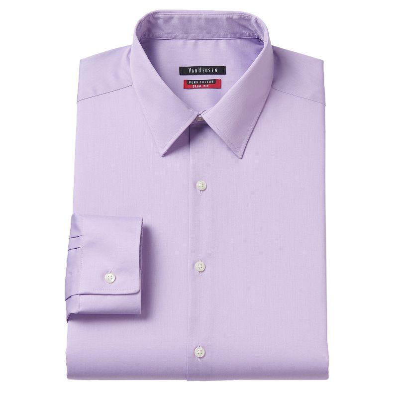 Purple slim fit shirt kohl 39 s for Tony collar dress shirt