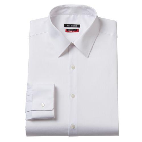 Men 39 s van heusen slim fit flex collar dress shirt for Van heusen men s regular fit pincord dress shirt