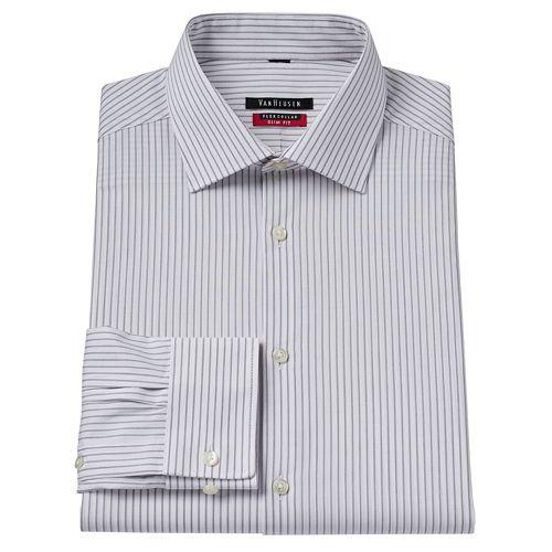 Men 39 s van heusen slim fit checked flex collar dress shirt for Van heusen shirts flex collar