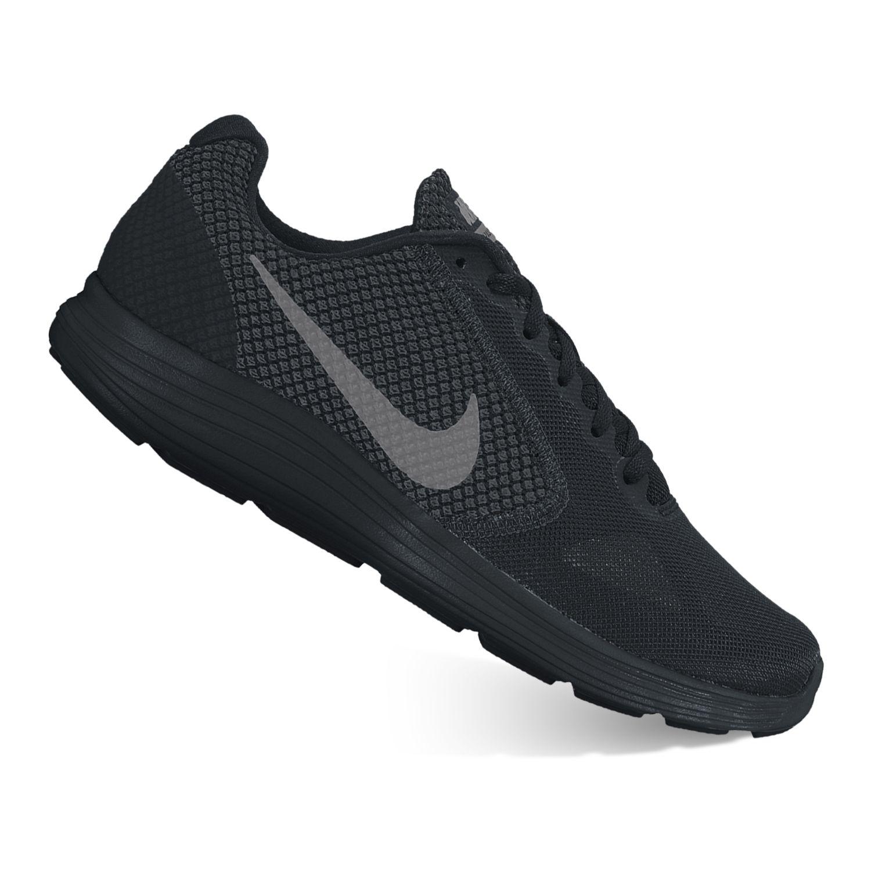 Nike Revolution 3 Men\u0026#39;s Running Shoes. Black Gray Red Black Ocean ...