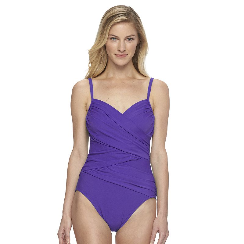 Women's Croft & Barrow® Wrap One-Piece Swimsuit