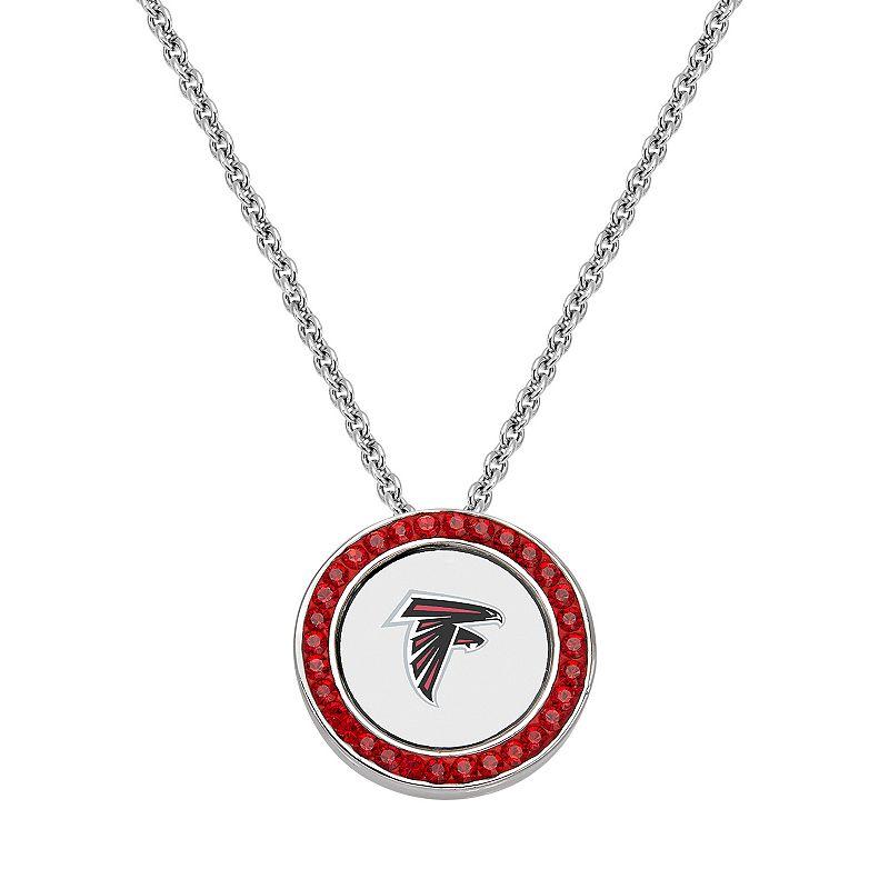 Atlanta Falcons Team Logo Crystal Pendant Necklace - Made with Swarovski Crystals