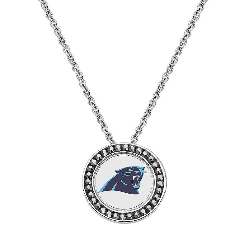 Carolina Panthers Team Logo Crystal Pendant Necklace - Made with Swarovski Crystals