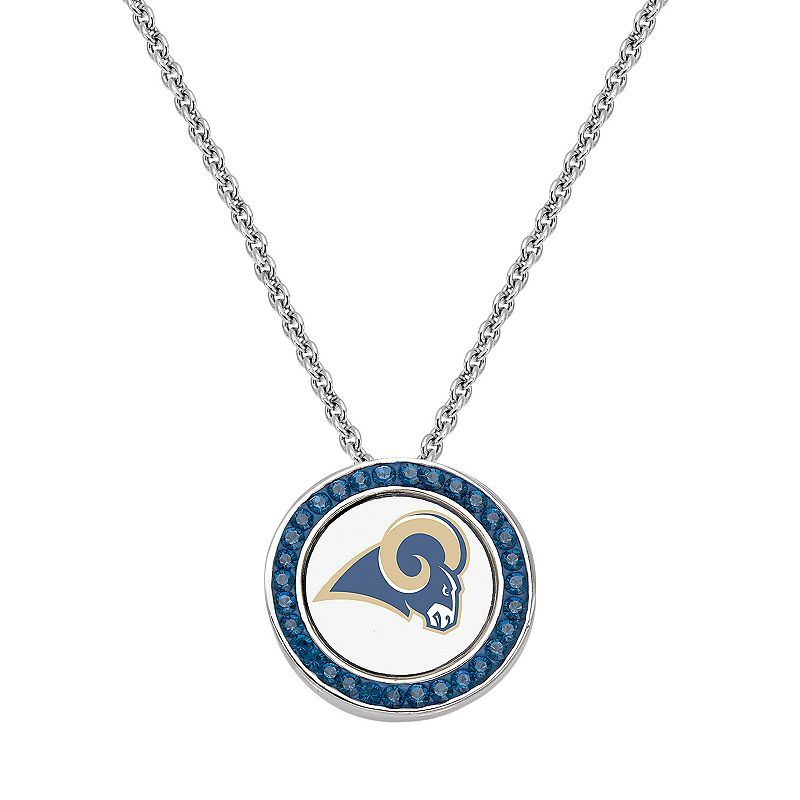 St. Louis Rams Team Logo Crystal Pendant Necklace - Made with Swarovski Crystals