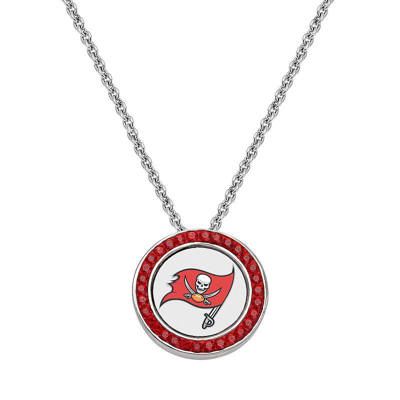 Tampa Bay Buccaneers Team Logo Crystal Pendant Necklace - Made with Swarovski Crystals