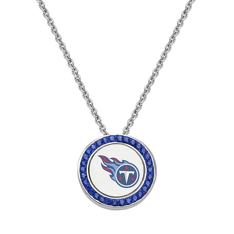 Tennessee Titans Team Logo Crystal Pendant Necklace - Made with Swarovski Crystals