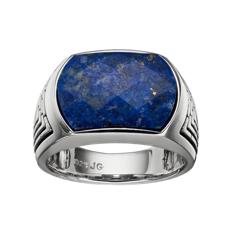 Men 39 s lapis lazuli sterling silver ring dealtrend for Kohls jewelry mens rings