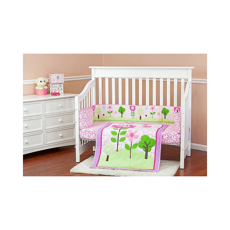 Dream On Me Spring Garden 3-pc. Crib Bedding Set