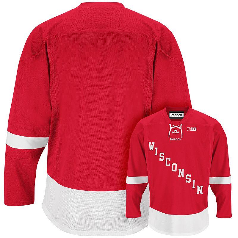 Men's Reebok Wisconsin Badgers Team Jersey