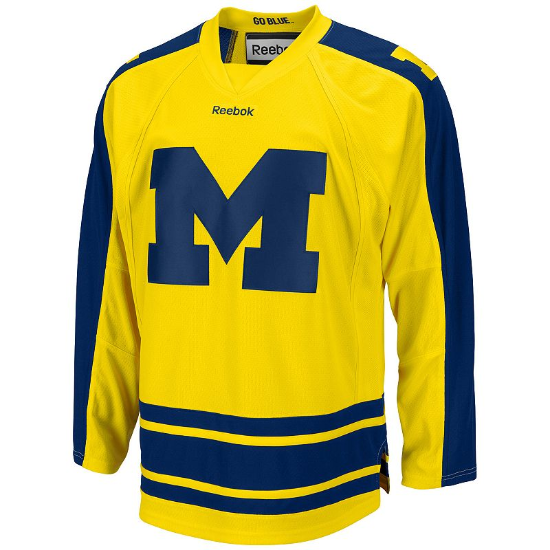 Men's Reebok Michigan Wolverines Team Jersey