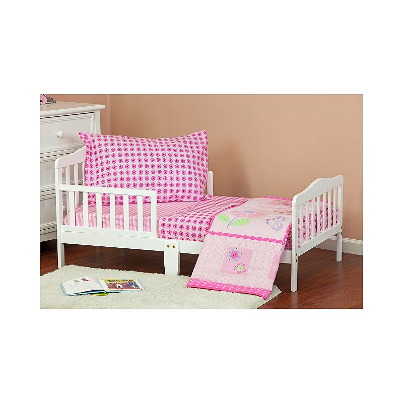 Dream On Me Pink Butterfly & Flower 4-pc. Toddler Bedding Set