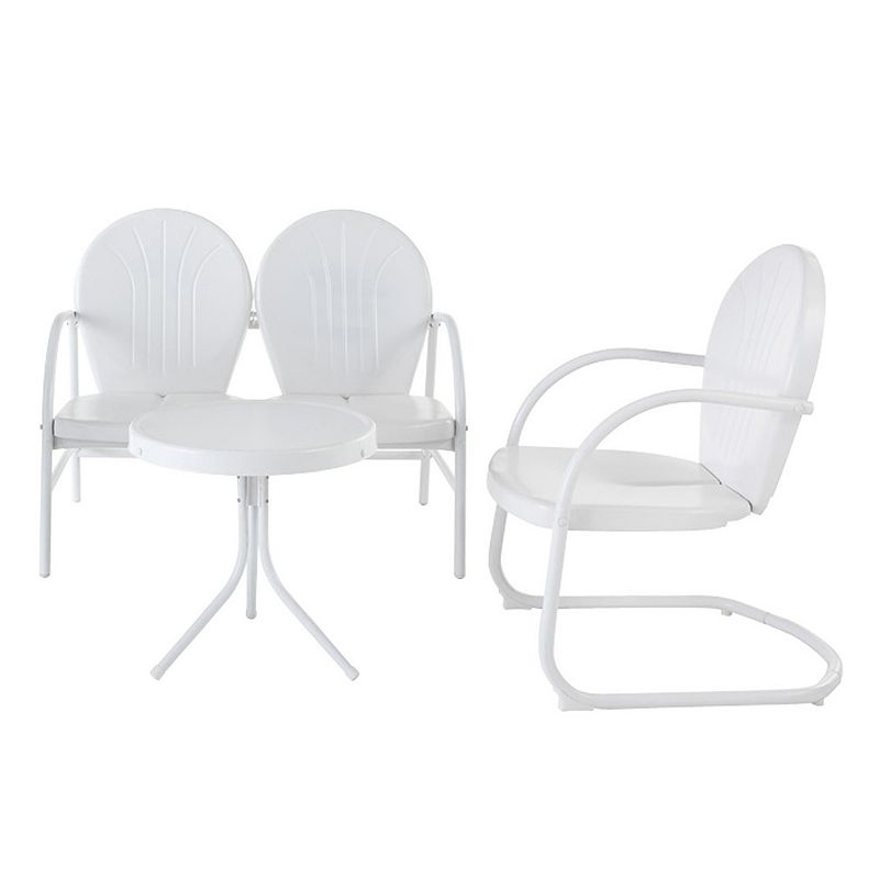 Griffith Metal Loveseat, Chair & End Table 3-piece Set