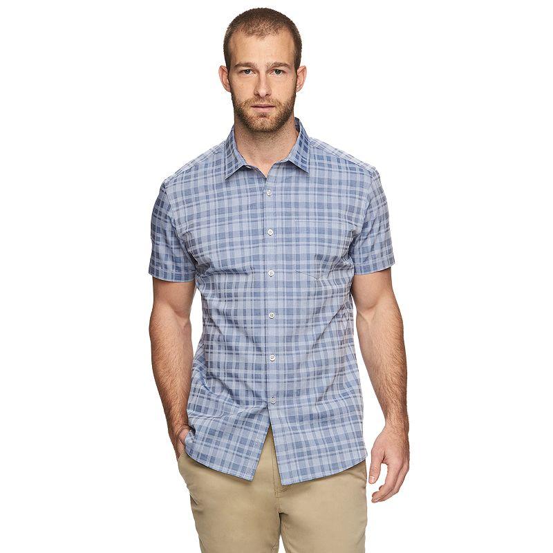Marc Anthony® Slim-Fit Plaid Woven Button-Down Shirt - Men