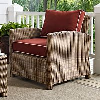 Crosley Outdoor Bilmore Outdoor Wicker Arm Chair