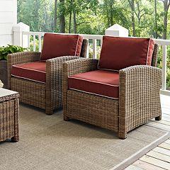 Crosley Outdoor Biltmore 2-pc. Outdoor Wicker Seating Set by