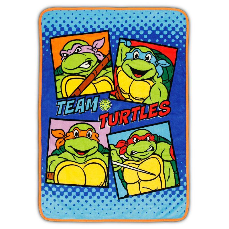Teenage Mutant Ninja Turtles Fleece Sound Effects Toddler Blanket