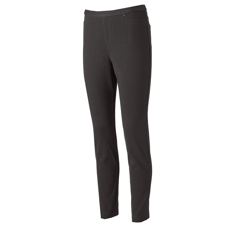 Women's Croft & Barrow® Classic Slim Straight-Leg Twill Pants
