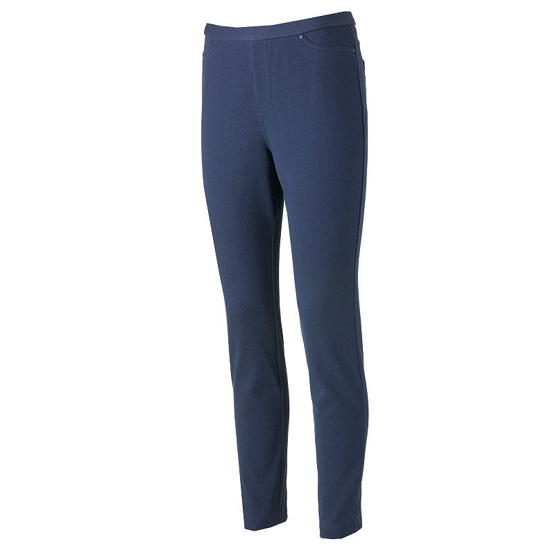 Women's Croft & Barrow® Classic Slim Straight-Leg Twill Pants