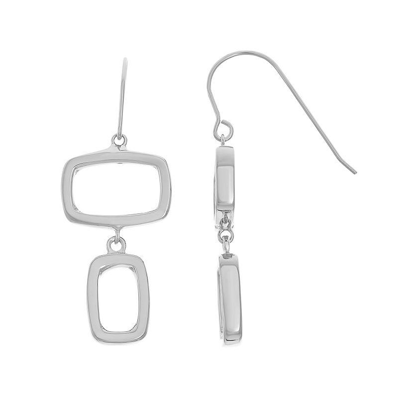 Sterling Silver Geometric Drop Earrings