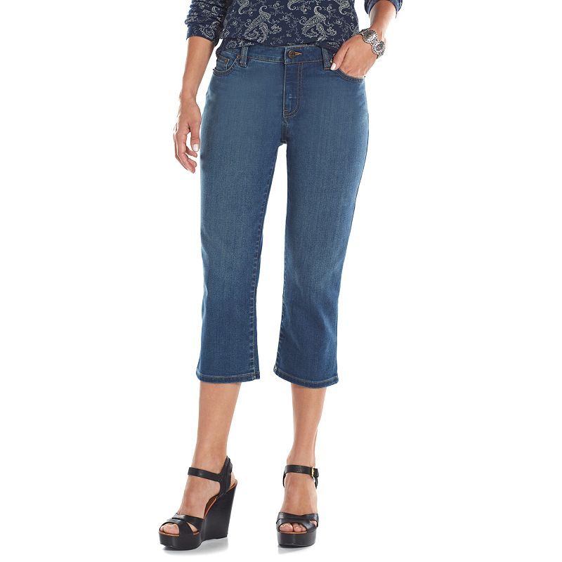 Chaps Straight-Leg Denim Capris - Women's