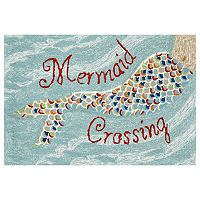 Trans Ocean Imports Liora Manne Frontporch Mermaid Crossing Indoor Outdoor Rug