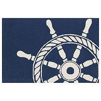Trans Ocean Imports Liora Manne Frontporch Ship Wheel Indoor Outdoor Rug