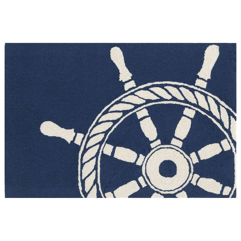 Trans Ocean Imports Liora Manne Frontporch Ship Wheel Indoor Outdoor Rug