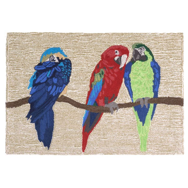 Trans Ocean Imports Liora Manne Frontporch Parrots Indoor Outdoor Rug