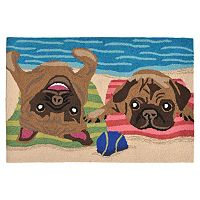 Trans Ocean Imports Liora Manne Frontporch Pug Life Indoor Outdoor Rug