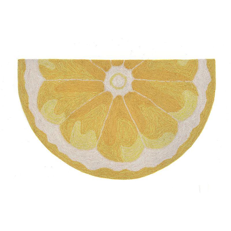 Trans Ocean Imports Liora Manne Frontporch Lemon Slice Indoor Outdoor Rug