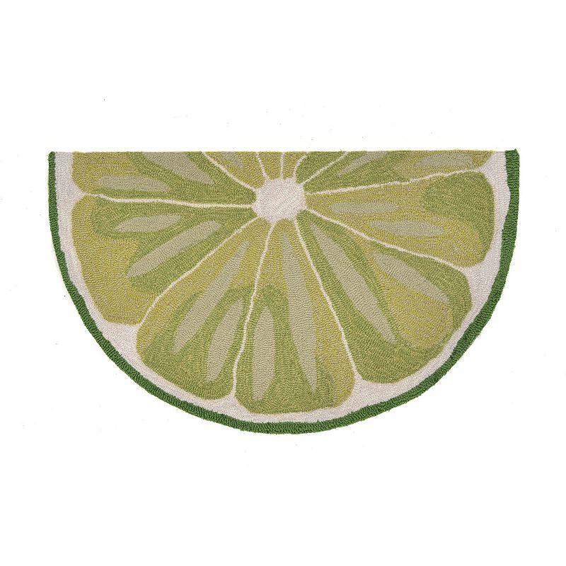 Trans Ocean Imports Liora Manne Frontporch Lime Slice Indoor Outdoor Rug