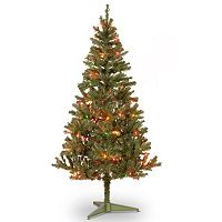 6-ft. Pre-Lit Multicolor Canadian Grande Fir Artifical Christmas Tree