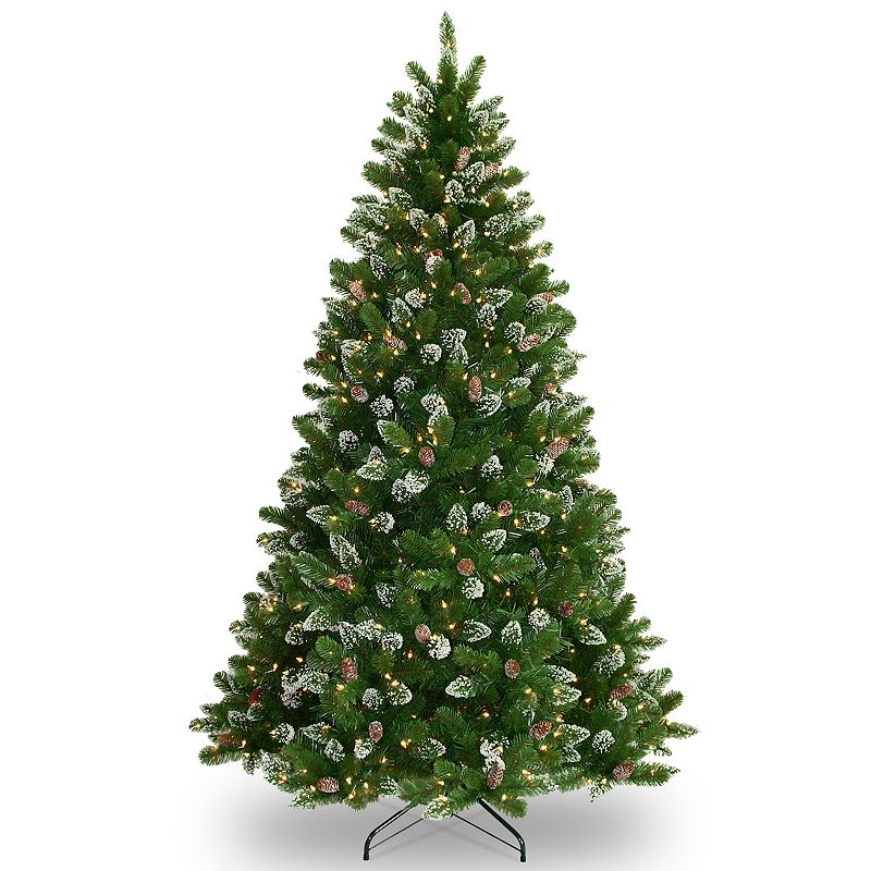 7.5-ft. Pre-Lit Pinecone Glitter Crystal Spruce Artifical Christmas Tree