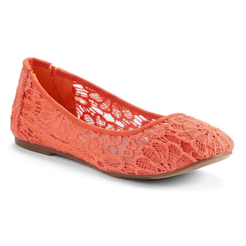 Mudd® Women's Crochet Ballet Flats