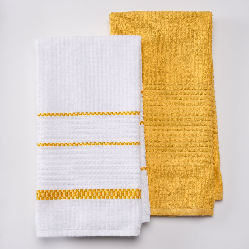 Food Network™ 2-pc. Textured Square Kitchen Towel Set