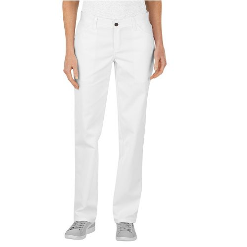 Luxury DICKIES Womens Relaxed Fit Straight Leg Stretch Twill PantsDICKIES