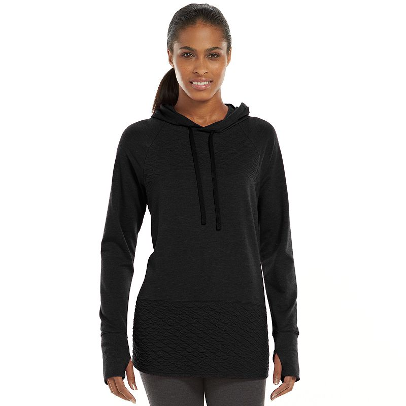 Women's Tek Gear® Quilted French Terry Hoodie