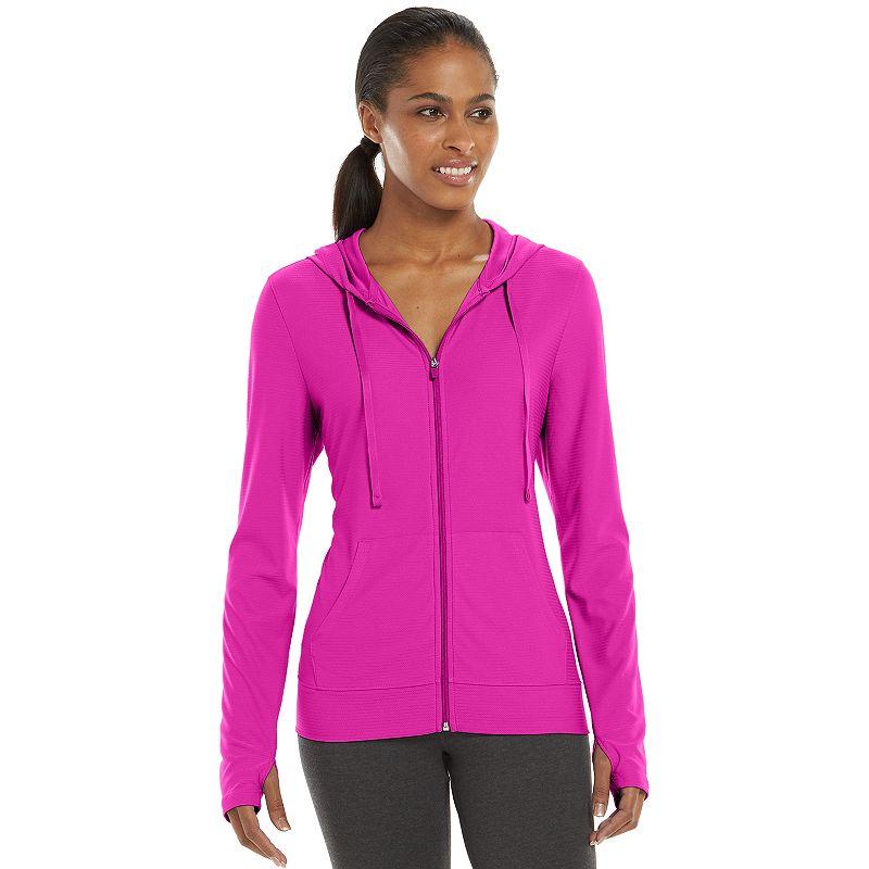 Women's Tek Gear® Mesh Full-Zip Workout Hoodie