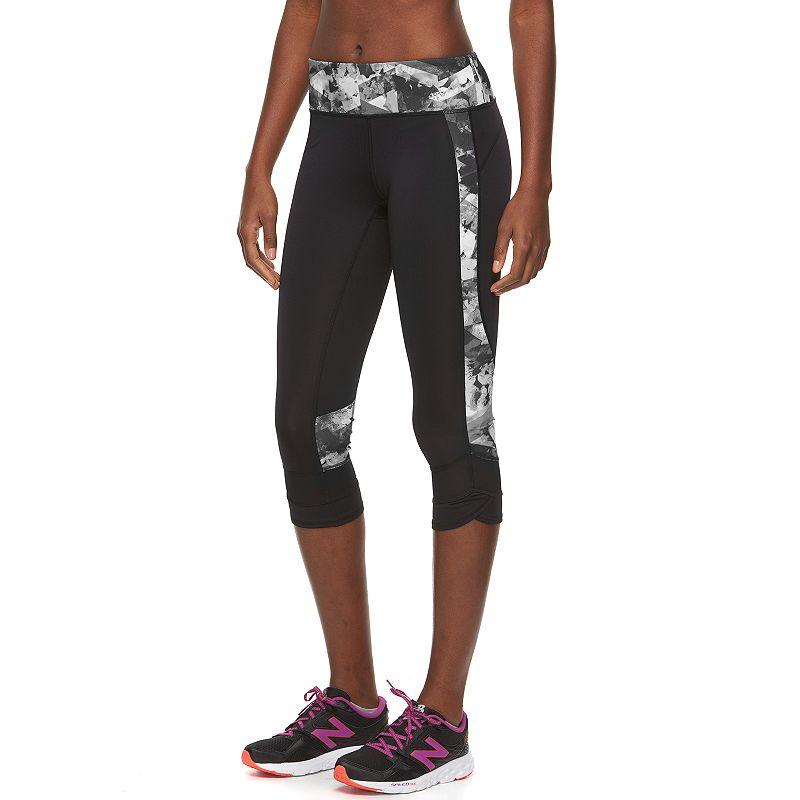 Women's Tek Gear® Mesh-Hem Capri Workout Leggings