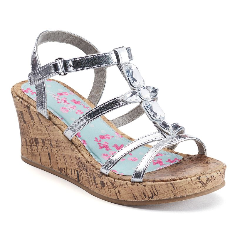 SONOMA Goods for Life™ Girls' Jeweled Wedge Sandals