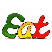 Rustic Arrow ''Eat'' Multicolor Wall Decor