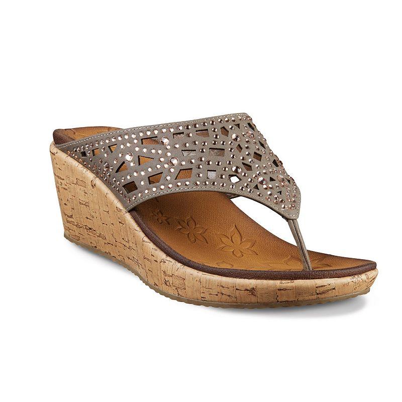 Skechers Beverlee Dazzled Women's Wedge Thong Sandals