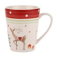Spode Christmas Jubilee Red Band 4-pc. Mug Set