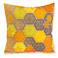 Micklyn Yellow Gray Hexagon Throw Pillow