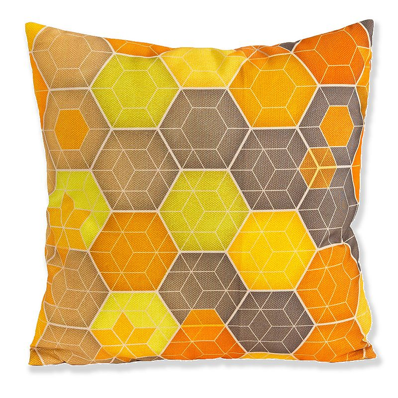 Kohls Yellow Throw Pillows : Micklyn Geometric Foil Print DealTrend